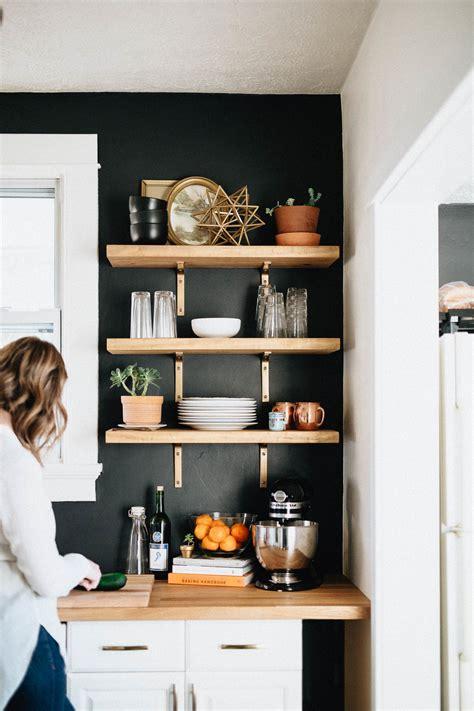 kitchen wall shelves ideas our diy kitchen remodel honest artistic the brauns columbus dayton cincinnati