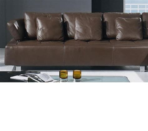 contemporary leather sectional sofa dreamfurniture bo 3878 contemporary brown leather