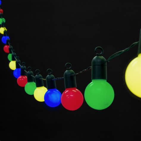 outdoor coloured lights 20 multi coloured led lights 5 metres lights4fun co uk