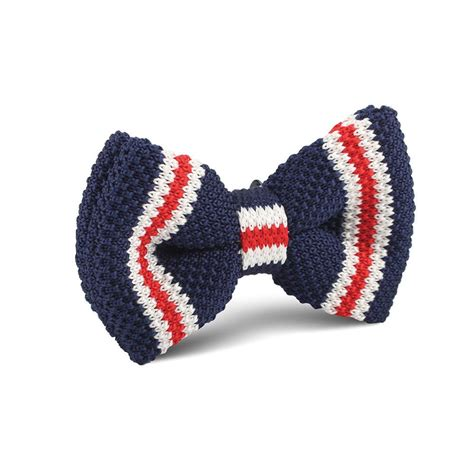 knitted bow tie american navy blue knitted bow tie knit bowties bowtie