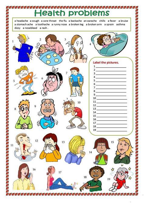 41 Free Esl Health Problems Worksheets