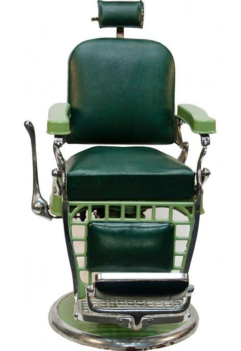 emil j paidar green porcelain barber chair
