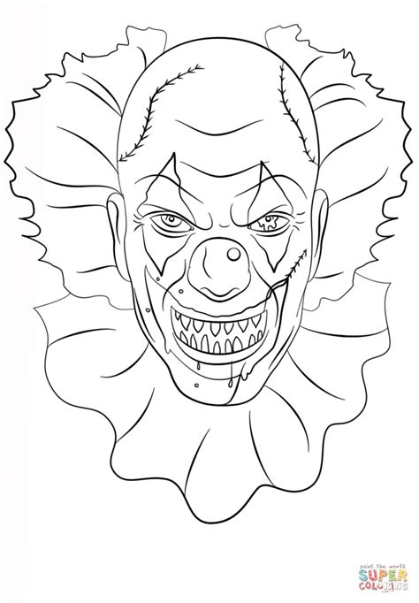 Best Pennywise Coloring Pages Ideas And Images On Bing Find What