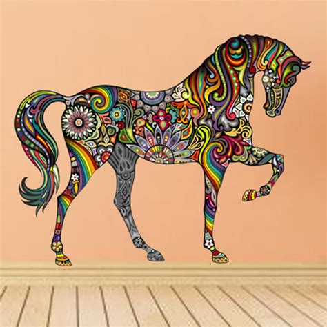 creative colorful animal wall sticker mural house decorative vinyl bedroom room home