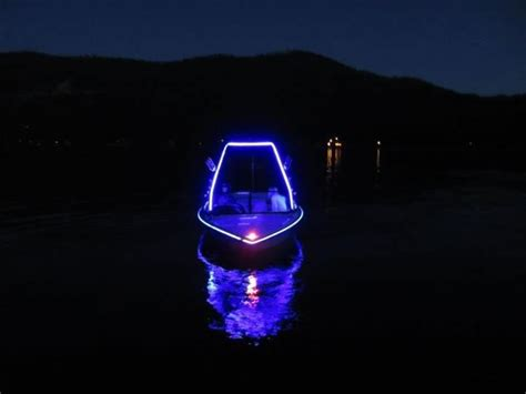 Led Boat Night Lights by On Lake Tahoe Joshua Root S Boat Livens The Night With