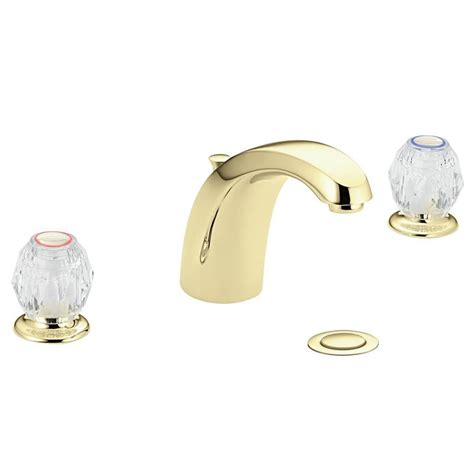 shop moen chateau polished brass 2 handle widespread