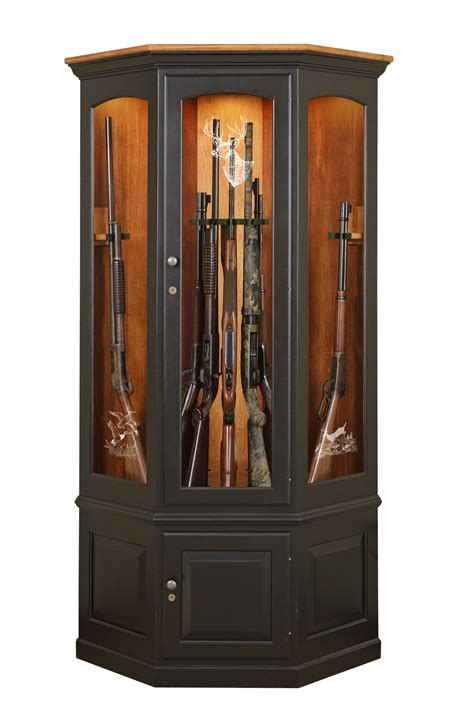 wood gun cabinet with etched glass cepagolf
