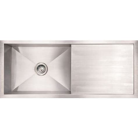 kitchen sinks commercial reversible sink with drainboard brushed stainless steel by noah
