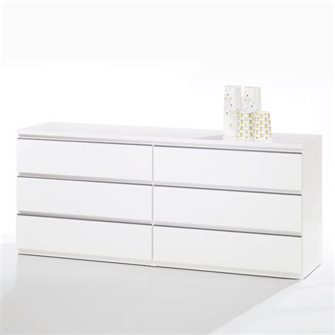 6 drawer dresser white shop tvilum tucson white 6 drawer dresser at lowes