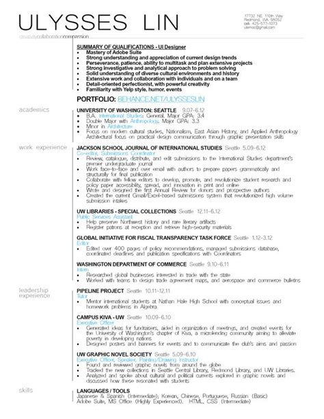 12 Best Images About Resumes On Pinterest