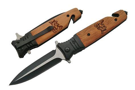 couteau pliant cerf 20 5cm bois et m 233 tal de259 couteau pliant balisong automatique couteau