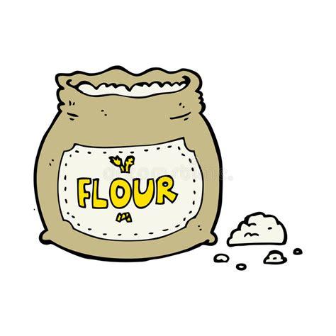 Cartoon Bag Of Flour Stock Vector Illustration Of Design