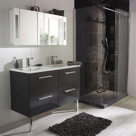 meuble de salle de bain noir de chez castorama photo 4 20 gamme seton finition laqu 233 e