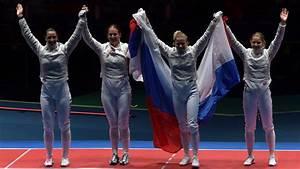 Russian women's fencing team beats Ukraine to win gold in ...