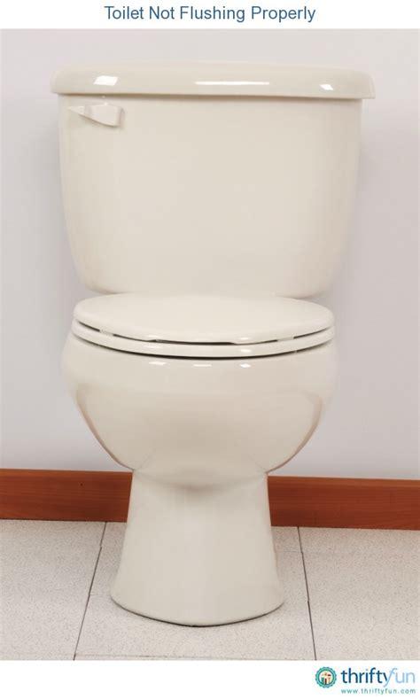 toilet not flushing properly thriftyfun