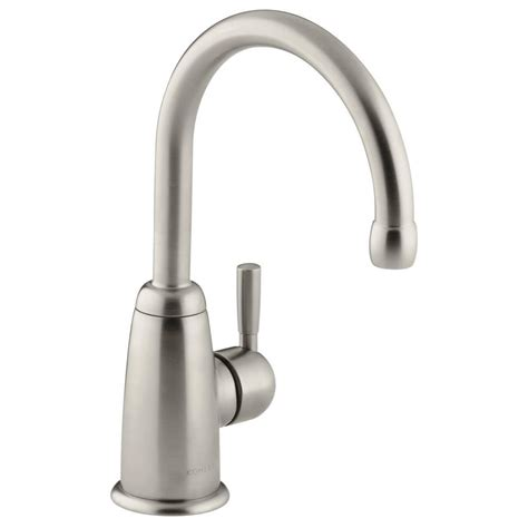 kohler wellspring single handle bar faucet with contemporary design in vibrant brushed nickel k