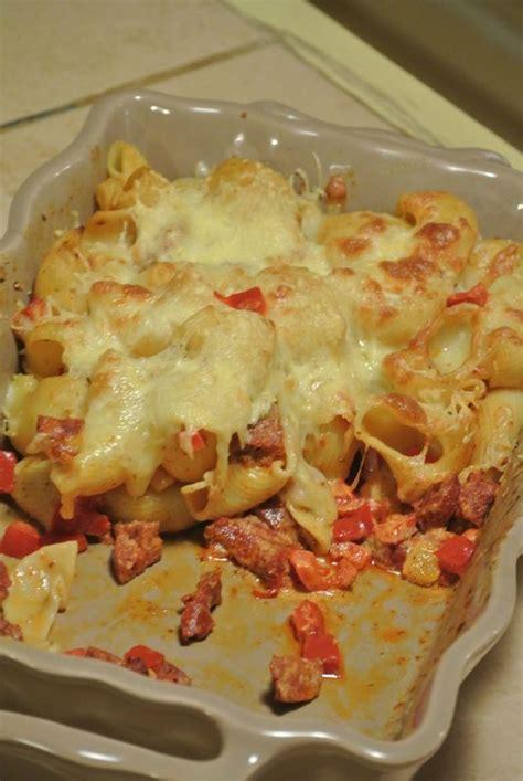 gratin de p 226 tes au chorizo et au poivron dans la cuisine de fabienne