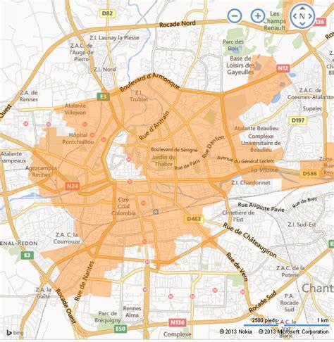 rennes ftth d orange carte de d 233 ploiement