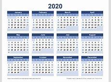 calendar 2020 Dimmimetashortco