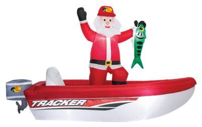 Inflatable Boat In Shop by Bass Pro Shops Inflatable Santa In Tracker Boat Bass Pro