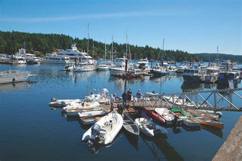 Boat Launch Salt Spring Island by Ganges Harbour Salt Spring Island Pacific Yachting