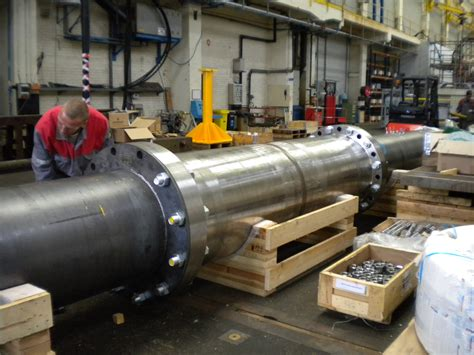 dresser rand performs noise test on large pipe resonator