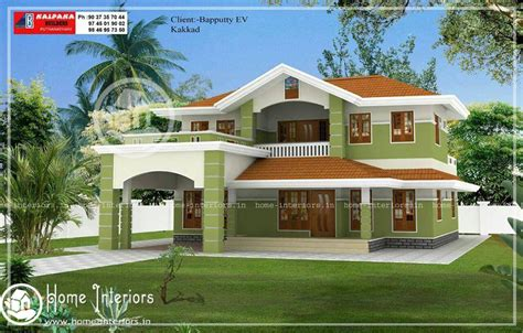 Home Design 02 : Beautiful Double Floor Home Design With Free Home Plan