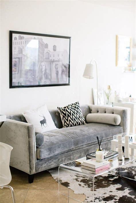 Samt Sofa  Wunderschöne Wohnzimmer Ideen Und