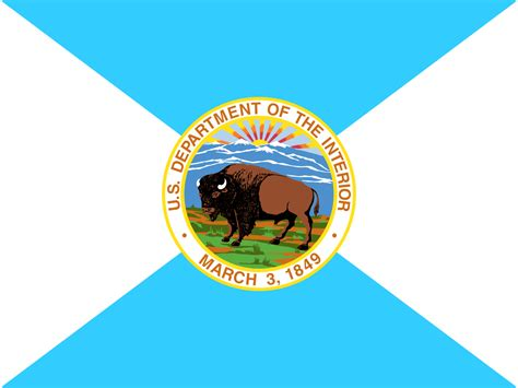 file flag of the united states department of the interior svg wikimedia commons