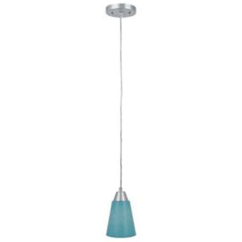 aqua glass pendant light illumine 1 light steel pendant with aqua glass shade cli