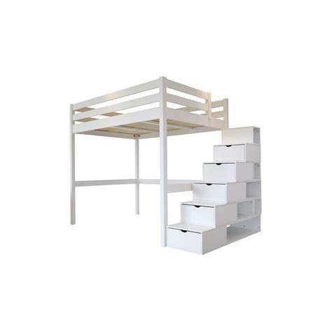 lit mezzanine sylvia 120x200 escalier cube achat vente lit mezzanine lit mezzanine sylvia