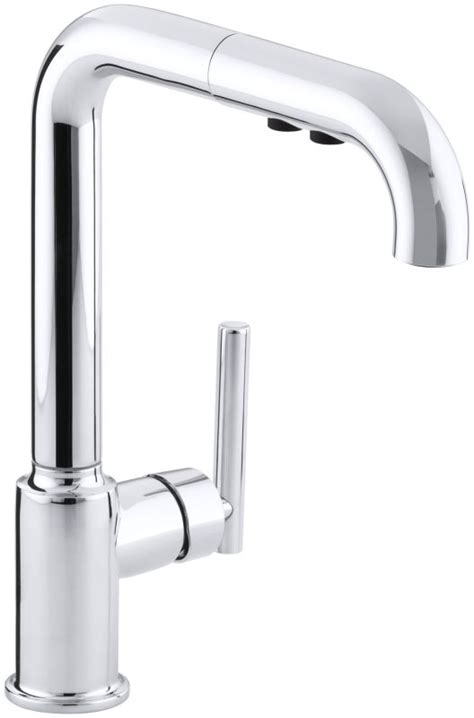 kohler k 7505 cp polished chrome single handle pullout