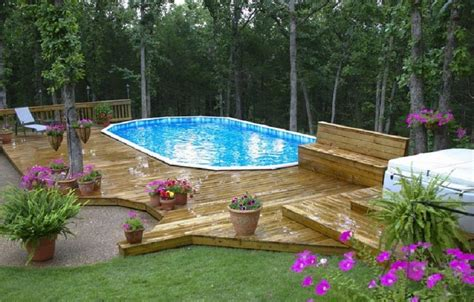 above ground pool deck landscaping ideas above ground pools with decks pool deck paint home