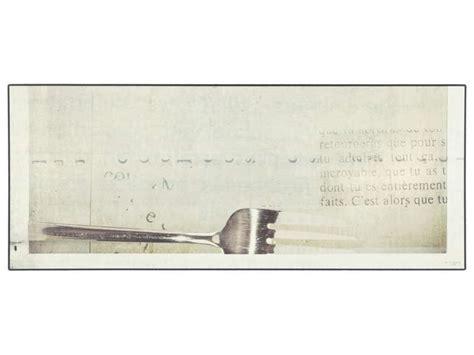 tapis de cuisine 50x80 cm vinyle fourchette chez conforama