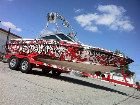 Red Boat Vinyl Wrap by Boat Wrap Designs And Ideas Bing Images