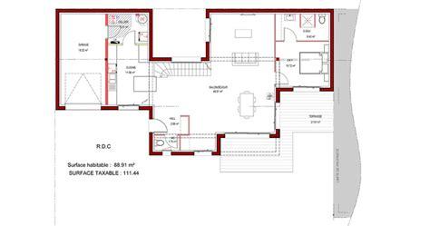 plan maison plain pied toit plat mc immo