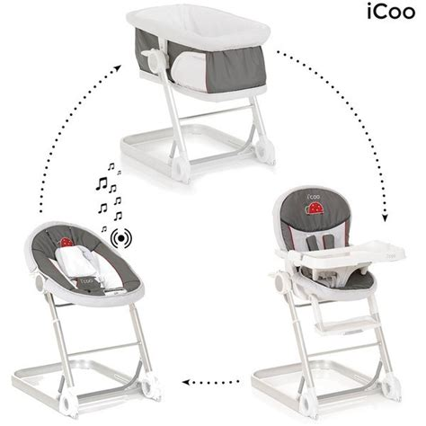 chaise haute icoo grow with me 1 2 3 poussette