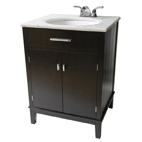 simpli home 30 quot loft bathroom vanity with marble top and sink 225988 bath at sportsman