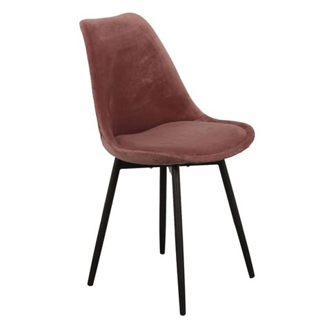 Chaise Velours Rose Lot De 2  My Home Collection