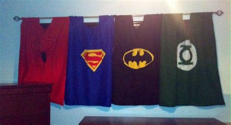 My Mom Made These Super Hero Curtains. And My Son Loves Homes Exteriors Home Depot Cabinet Handles Color Schemes For Exterior Girls Bedroom Decor Ideas Apartment Dining Room Accents In Stock Kitchen Cabinets