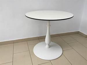 Tisch Rund Weiß : tisch rund barockstyle tisch wei bistrotisch rund wei durchmesser 80 120 cm ~ Markanthonyermac.com Haus und Dekorationen