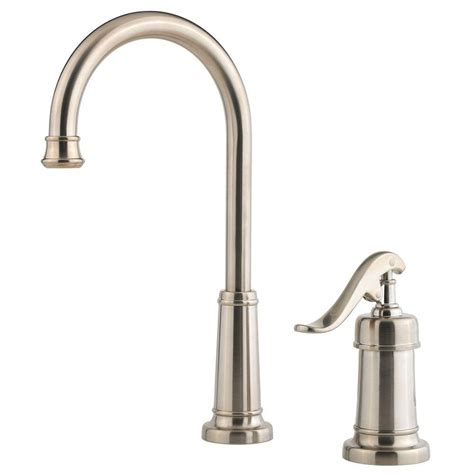 pfister ashfield single handle bar faucet in brushed nickel lg72 yp2k the home depot