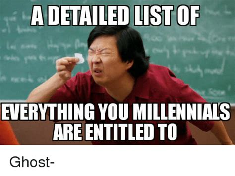 A Detailed List Of Everything You Millennials Are Entitled