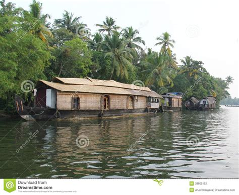 Kerala Boat House Vector by Wooden House Boats In Kerala Back Waters Stock Photo