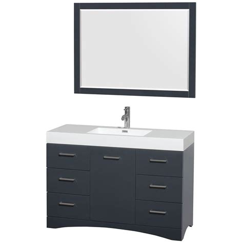 wyndham collection delray 48 in vanity in clay with