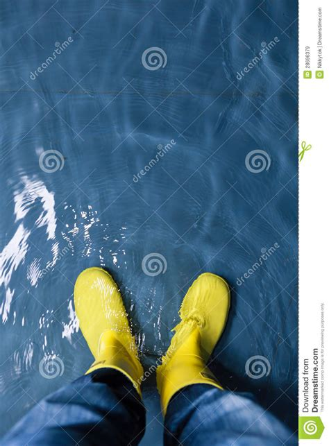 Rubber Boot Water by Rubber Boots In The Water Stock Image Image Of Blue