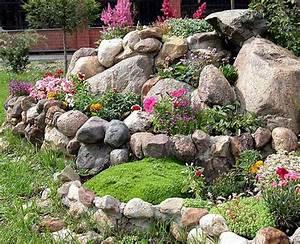 Gartengestaltung Ideen Vorgarten : 53 erstaunliche bilder von gartengestaltung mit steinen ~ Markanthonyermac.com Haus und Dekorationen