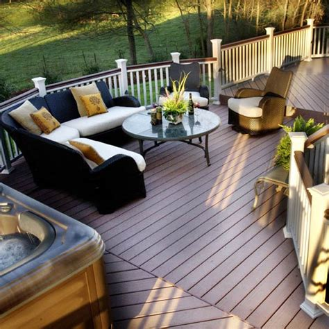 low maintenance composite deck design archadeck outdoor
