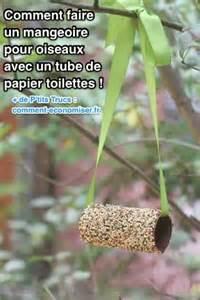 comment faire une mangeoire pour oiseaux avec un rouleau de papier toilettes