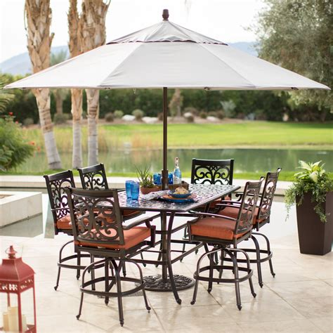 patio tables with umbrella octagon cabin plans area rugs kohls